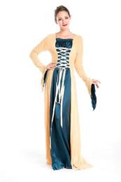 Wholesale Gothic Renaissance Dresses - 2016 New Arrival Halloween Costume Lolita Gothic Renaissance Medieval Costume Mythic Fancy Dress Court Costume Queen Cosplay