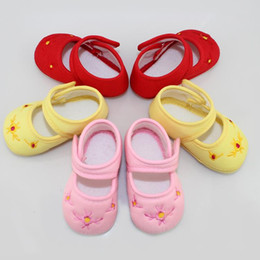 Wholesale Tigers Shoes Wholesale - Baby Girl Shoes Baby Kids Tiger Flower Pattern Cotton First Walkers Skid Proof Sapato Infant Baby Girls Shoes