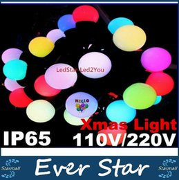 Wholesale Cotton Fairy String Lights - Cotton Ball Led String Light Fairy Christmas Lights Decoration Holiday Party 5M 50LEDs   10M 100LEDs AC110V 220V Free Shipping