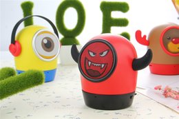 Wholesale Minions Speakers - Demon Bluetooth speaker Cute Big Eye Frawn Portable Minions Wireless Speakers w Mic Support TF card for iOS Andriod Phone