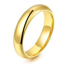 Wholesale Tungsten Carbide Ring Free Shipping - 6MM (10Pcs  Lots) Wholesale Price 18K Gold Plating Tungsten Carbide Ring Wedding Ring Free Shipping Mix Size 4-15