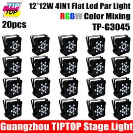 Wholesale Club Lights China - Freeshipping 20 Pack 12x12W RGBW LED Stage Light Par DMX-512 Lighting Laser Projector Party Club Equipment China Led Stage Light