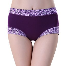 Wholesale Women Girdle Panties - Wholesale-Bamboo Middle-waisted Jacquard Lace Underpants Leopard Print Seamless Girdle Soft Panties for Women
