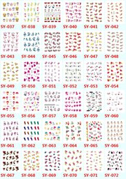 Wholesale Nail Design Sticks - Hot nail stickers all premium transfer printing nail stick The spot 176 lovely nails stick a lovely design