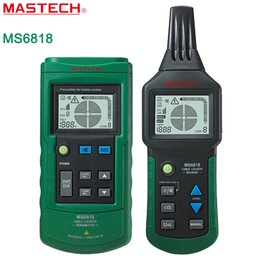Wholesale Mastech Cable Tracker - Wholesale-Mastech MS6818 Cable detector Wire Cable Metal Pipe Locator Detector Tracker Finder Metal Pipe Locator Meter AC DC 12~400V YQ3