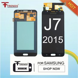 Wholesale Tft Lcd Panel Touch Screen - 100% Tested TFT LCD Can Adjust Brightness for Samsung Galaxy J7 2015 J700 J700F J700H J700M LCD Display Touch Screen Digitizer Assembly
