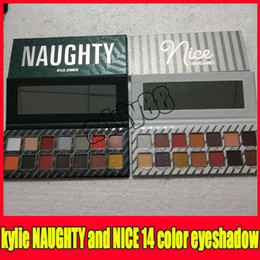 Wholesale nice holidays - New Makeup Kylie Jenner NICE and NAUGHTY Eyeshadow Palette 14colors Shimmer and Matte eye shadow Kyshadow kylie holiday edition Christmas