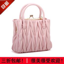 Bolso de las señoras 2016 verano nuevos bolsos coreanos dulces de la manera doblan el bolso de tres capas del bolso del bolso de Crossbody desde fabricantes