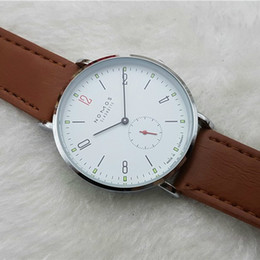 Wholesale Casual Watches - 2016 New Brand NOMOS Quartz Watch lovers Watches Women Men Dress Watches Leather Dress Wristwatches Fashion Casual Watches