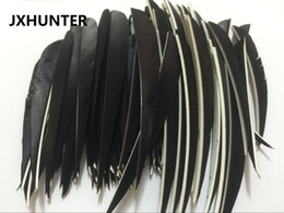 """Wholesale Feather Arrow Fletching - 60 pk Archery Hunting Right Wing 5"""" turkey Feather drop Shape Arrow Fletching For Hunting Carbon Arrows"""