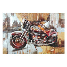 Wholesale City Motorcycles - Motorcycle City,Pure Hand Painted Wall Decor Pop Art Oil Painting On High Quality Canvas.Free Shipping,customized size accepted wayfai