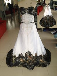 UK wedding dress sweetheart beading real - 2016 Real Picture Sweetheart Ball Gown Wedding Dresses Chapel Train With Beading Lace up back Camo Wedding Ball Gowns