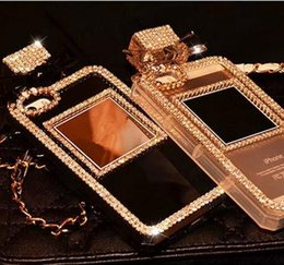 Wholesale Sumsung Galaxy Cases - Luxury Bling Crystal Rhinestone Perfume Bottle TPU Case For Iphone 7 7Plus 4s 5s SE 6 6s 6plus for Sumsung Galaxy S6 S7 S7edge