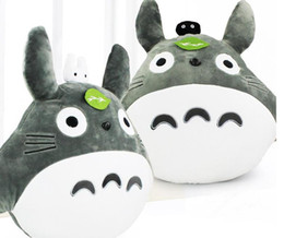 Wholesale Plush Pillow Totoro - Hot sale My Neighbor Totoro Pillow Stuffed Plush Animals Toys Soft Doll For Children 48*43cm High Quality Free Shipping ems