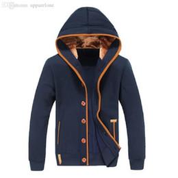 Wholesale Jacket Patches Elbows - Wholesale-2015 Autumn Winter Fashion Men Fleece Elbow Patch Hooded Single Breasted Hoodies Men Casual Sweatshirt Jacket Large size M-3XL