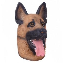 gesichtsmaskenentwürfe für partei Rabatt Maske New Design Tierhundekopf Full Face Latex-Partei Halloween-Tanz-Party-Kostüm Wolfshund Masken Theater Spielzeug-Abendkleid-Geschenk
