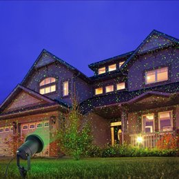 Wholesale Pattern Houses - New Hot Modern Outdoor  Indoor 8 Patterns Gobos Laser Projector Landscape Garden Yard Lawn Snow Lighting Home Light Show House