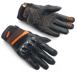 Wholesale Ktm Leather - 2015 KTM RADICAL X carbon fiber motorcycle riding gloves motorbike leather gloves leather racing gloves