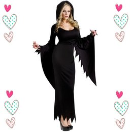 Wholesale Adult Witches Halloween Costume - Wholesale-Halloween Witch Costumes For Women Anime Cosplay Sexy Dark Witch Black Costume Adult Carnival Costume Party Disfraces Carnival