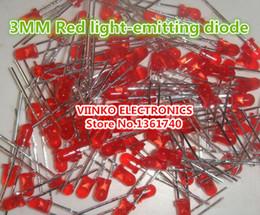 lâmpada difusa led Desconto Atacado-Frete grátis 100pcs Red LED 3MM diodo emissor de luz Red turn Red