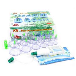 Wholesale Chinese Vacuum Cupping Kits - 12 pcs  Set Chinese Health care Medical Vacuum Body Cupping Set Portable Massage Therapy Kit body relaxation healthy Massage Set 0613020