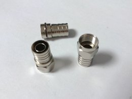 Wholesale Connector Rg6 - 20PCS RG6 F ADAPTER COAX COAXIAL COMPRESSION for Satellite CONNECTOR