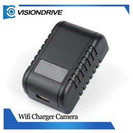 Wholesale Video Wifi Adapter - New WIFI 1080P HD SPY Hidden IR Night vision Wall Charger Camera Adapter DVR Video Recorders