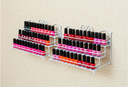 Canada Vernis à ongles Rack de bureau 3 couches support de stockage supporte Iron Art Shelf Holdr cas étagère Nail Salon supplier iron storage racks Offre