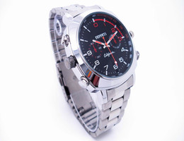 Wholesale Spy Stainless Watches - voice recording watch camera High Quality Waterproof Full HD 1080P Spy Hidden camera 8GB 16GB Mini Video DVR Stainless steel watchband watch