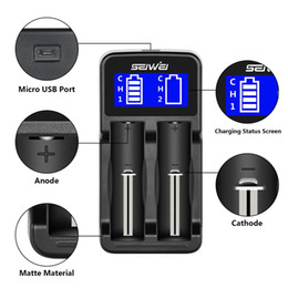 Wholesale Electronic Cigarette Li - LCD Display Universal Smart Charger for Rechargeable Batteries Li-ion batteries 18650 18350 17670 17500 14500 Electronic Cigarette