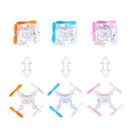 Wholesale Quadcopter Blue - Mini Foldable Drone Micro Pocket 4CH 6Axis Gyro Switchable Controller RC Helicopter Kids Toys 901 Portable Quadcopter