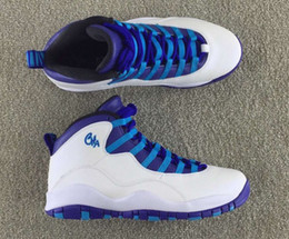 Wholesale Flag Suede - 2016 NEW cheap air Retro 10 NYC Charlotte Hornets blue men women basketball shoes 10s sports City Pack CHI Chicago Flag size 36-47