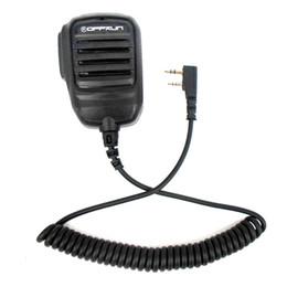 Wholesale Kenwood Speaker Mic -  OPPXUN Anti-rain 2 Pin PTT Speaker Mic for Kenwood BAOFENG UV-5R TYT WOUXUN H777 RT3 Walkie Talkie Ham Radio Hf Transceiver