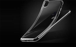 Wholesale Iphone Cases Gel Crystal - For Iphone X 8 7 S8 plus Samsung S7 0.5MM Crystal Gel Case Ultra-Thin transparent Soft TPU Cases Note 8 Clear Cases