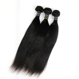 Wholesale Hair Extensions Indian - Virgin Human Hair Wefts Brazilian Hair Bundles Weaves 8-34Inch Unprocessed Mongolian Peruvian Indian Malaysian Weaving Hair Extensions