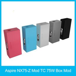 Wholesale Alloy Profile - Original Aspire NX75-Z Mod TC 75W Box Mod Child Lock New Customizable Firing Button Profiles (CFBP) Function Zinc-Alloy