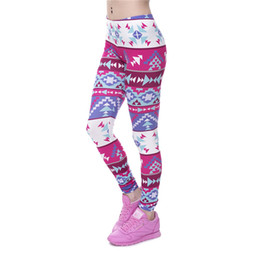 Wholesale Leggings Tights For Girls - 3D Pants For Sex Women Digital Full Print Cute Girl Stretchy Capris Casual Elastic Tight Slim Fit Bright Colorful Pencil Trousers PWDK5-14 W