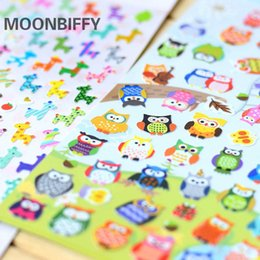 Wholesale Giraffe Sheets - 1 sheet Children Cute Owl Giraffe Reward Stickers School Teacher Merit Praise Sticky Class Paper Lable Kids Classic Toys