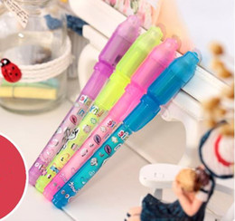 Wholesale uv ink pens - individual Blister Card Pack for each black light pen,UV Pen with Ultra Violet Light  invisible ink pen invisible pen fast shipping JF-13