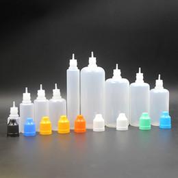E compte-gouttes en Ligne-e cigs pe bouteille e-liquide e liquide bouteille 10ml 3ml 5ml 30ml 50ml e bouteille vide de jus avec bouchon de sécurité à l'épreuve des enfants et compte-gouttes long et mince FJ059