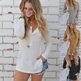 Wholesale Plus Size White Sweater - Autumn Women's Knits & Tees Sweater Women's Knits Tops Tees Loose Plus Size Sweater 4 Colors Free Shipping