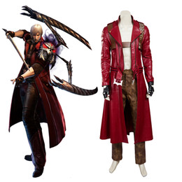 Wholesale Devil Plus Size - New Arrival Apparel Devil May Cry 3 DMC3 Dante Cosplay Costume High Quality Unisex Trench Pants