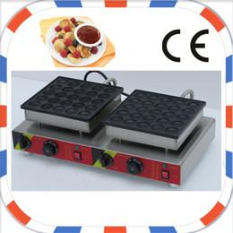 Wholesale Hole Maker - Free shipping 50 holes Industrial Use Non-stick Electric mini dutch pancake maker poffertjes machine grill iron baker plate mould