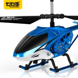 Wholesale Copter Motors - GouGouShou RC Alloy Helicopter Shark Sculpt Control Boy Toy 3.5Channel Copter With Gyroscope Remote Control Toys Kids Gift