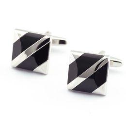 Wholesale geometric cufflinks - Simple Geometric Shape Design Men's Shirt Cuff Links Classical Men's Formal Wear Business Long Sleeve Shirt Cufflinks 990001