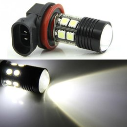 Wholesale H11 5w - H11 High Power 12SMD 5050 Chip + 5W XPE LED Xenon white Turn Signal Lights Bulbs car light source free shipping