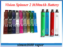Wholesale E Cigarette Vv Twist Spinner - Vision Spinner 2 II 1650mAh Battery Ego twist 3.3-4.8V vision2 variable voltage vv battery for e cigs Electronic cigarette ego atomizer