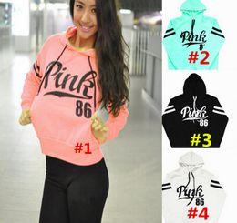 Wholesale Winter Sweatshirts For Women - VS Love Pink Women Long Sleeve Hoodie Victoria's Girl's Running Sports Secret Warm-up Top Clothes Winter Hoodie Sweatshirts for Ladies