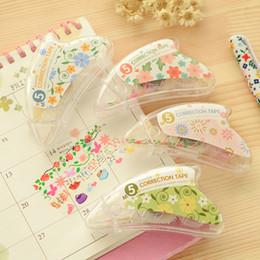 Wholesale Pen Deco - Wholesale-1 Pcs Cute Kawaii 8mm X 5m Flower Korean Deco Decorative Correction Tape Sticker Pen Office School Supplies Stationery Kids