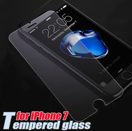 Wholesale Glass Film For Shipping - tempered glass 9H 2.5D Premium Screen Protector For iPhone 7 7 Plus 4.7 5.5inch 6 6S Plus Samsung S8 0.3mm Protective Film Guard Free Ship